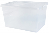 55L Storage Box W/ Wheels White 56x39x31cm