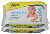 Baby Wipes Fragrance Free 2 x 30s