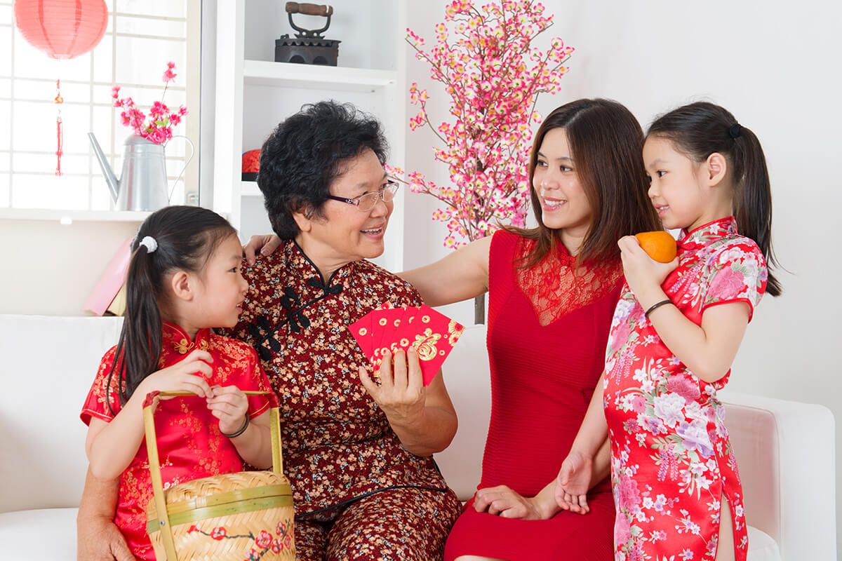 Singapore Family in CNY outfits