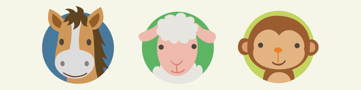 CNY 2020 Animal Signs, Characteristics - Horse, Sheep, Monkey