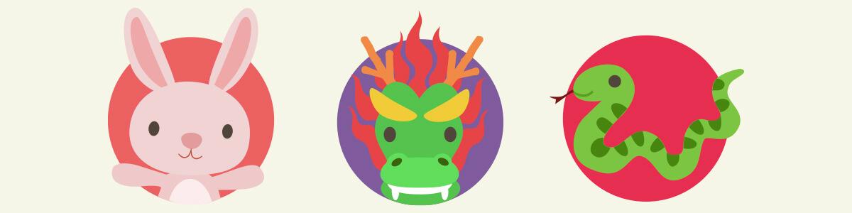 CNY 2020 Animal Signs, Characteristics - Rabbit, Dragon, Snake