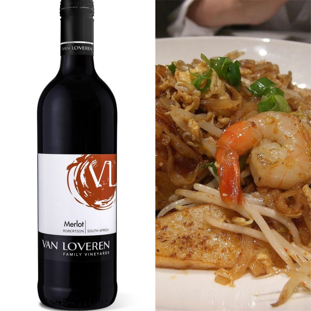 Merlot and Char Kway Teow